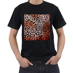 Tiger Motif Animal Men s T Shirt (black) (two Sided)