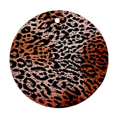 Tiger Motif Animal Round Ornament (Two Sides)