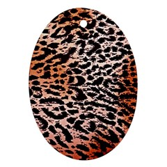 Tiger Motif Animal Oval Ornament (two Sides)