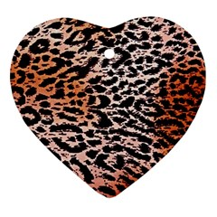 Tiger Motif Animal Heart Ornament (Two Sides)