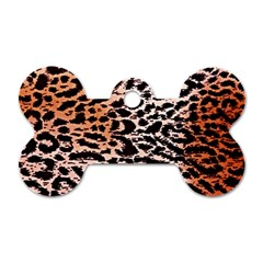 Tiger Motif Animal Dog Tag Bone (one Side)