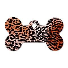 Tiger Motif Animal Dog Tag Bone (two Sides)