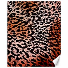 Tiger Motif Animal Canvas 11  X 14