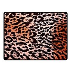 Tiger Motif Animal Fleece Blanket (small)