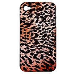 Tiger Motif Animal Apple Iphone 4/4s Hardshell Case (pc+silicone)