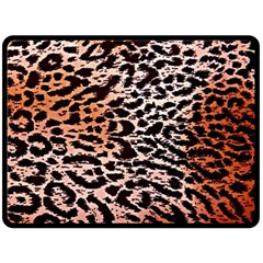 Tiger Motif Animal Double Sided Fleece Blanket (large)