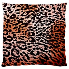Tiger Motif Animal Large Flano Cushion Case (one Side)