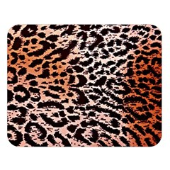 Tiger Motif Animal Double Sided Flano Blanket (large)