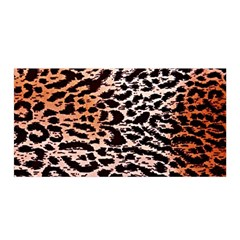 Tiger Motif Animal Satin Wrap