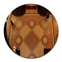 The Elaborate Floor Pattern Of The Sydney Queen Victoria Building Round Mousepads