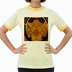 The Elaborate Floor Pattern Of The Sydney Queen Victoria Building Women s Fitted Ringer T Shirts
