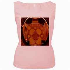 The Elaborate Floor Pattern Of The Sydney Queen Victoria Building Women s Pink Tank Top
