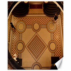 The Elaborate Floor Pattern Of The Sydney Queen Victoria Building Canvas 11  X 14