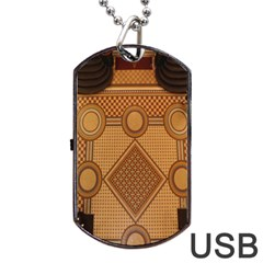 The Elaborate Floor Pattern Of The Sydney Queen Victoria Building Dog Tag Usb Flash (one Side)