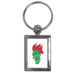 Crazy Man Drawing  Key Chains (rectangle)