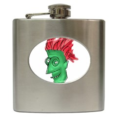 Crazy Man Drawing  Hip Flask (6 Oz)