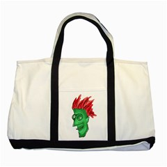 Crazy Man Drawing  Two Tone Tote Bag