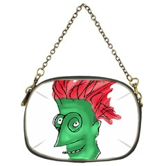 Crazy Man Drawing  Chain Purses (two Sides)