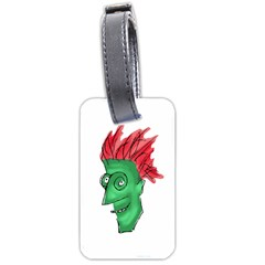 Crazy Man Drawing  Luggage Tags (two Sides)