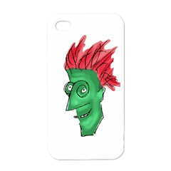 Crazy Man Drawing  Apple Iphone 4 Case (white)
