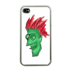 Crazy Man Drawing  Apple Iphone 4 Case (clear)