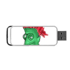 Crazy Man Drawing  Portable Usb Flash (two Sides)
