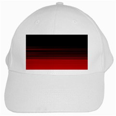 Abstract Of Red Horizontal Lines White Cap