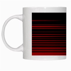Abstract Of Red Horizontal Lines White Mugs