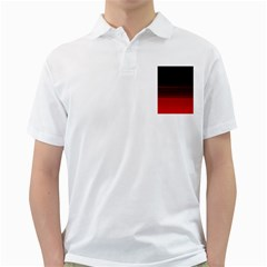 Abstract Of Red Horizontal Lines Golf Shirts