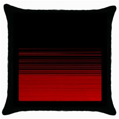 Abstract Of Red Horizontal Lines Throw Pillow Case (black)