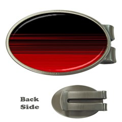 Abstract Of Red Horizontal Lines Money Clips (oval)