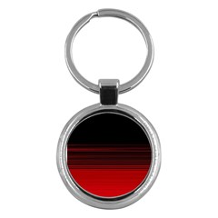 Abstract Of Red Horizontal Lines Key Chains (round)