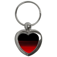 Abstract Of Red Horizontal Lines Key Chains (heart)