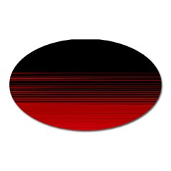 Abstract Of Red Horizontal Lines Oval Magnet