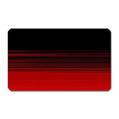 Abstract Of Red Horizontal Lines Magnet (Rectangular)