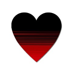 Abstract Of Red Horizontal Lines Heart Magnet