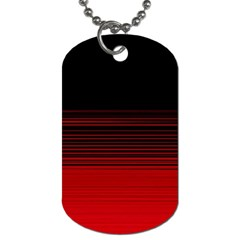 Abstract Of Red Horizontal Lines Dog Tag (one Side)