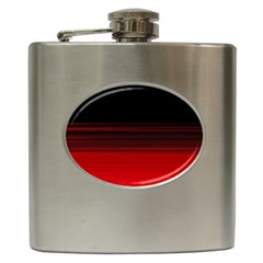 Abstract Of Red Horizontal Lines Hip Flask (6 oz)