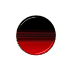 Abstract Of Red Horizontal Lines Hat Clip Ball Marker (10 Pack)