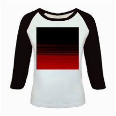 Abstract Of Red Horizontal Lines Kids Baseball Jerseys