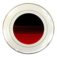 Abstract Of Red Horizontal Lines Porcelain Plates