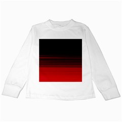 Abstract Of Red Horizontal Lines Kids Long Sleeve T-Shirts