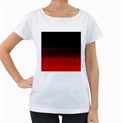 Abstract Of Red Horizontal Lines Women s Loose Fit T Shirt (white)