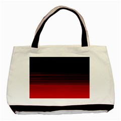 Abstract Of Red Horizontal Lines Basic Tote Bag