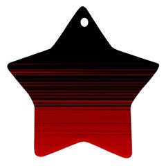Abstract Of Red Horizontal Lines Star Ornament (two Sides)