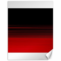 Abstract Of Red Horizontal Lines Canvas 12  X 16