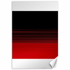 Abstract Of Red Horizontal Lines Canvas 12  X 18