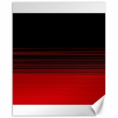 Abstract Of Red Horizontal Lines Canvas 16  X 20
