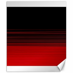 Abstract Of Red Horizontal Lines Canvas 20  X 24