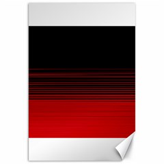 Abstract Of Red Horizontal Lines Canvas 20  X 30